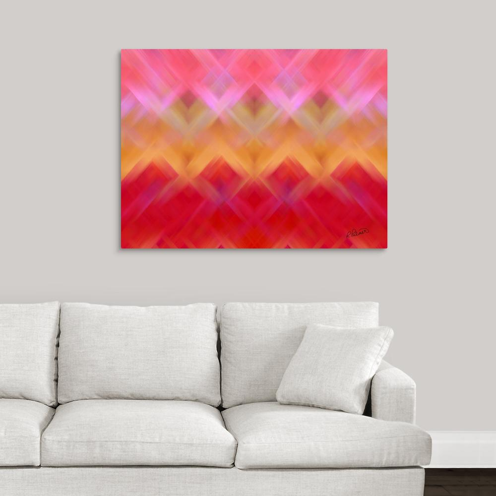 Pink Basket Weave By Rupa Art Canvas Wall