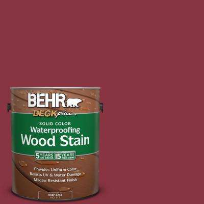 1 gal. #PPU1-10 Forbidden Red Solid Color Waterproofing Wood Stain