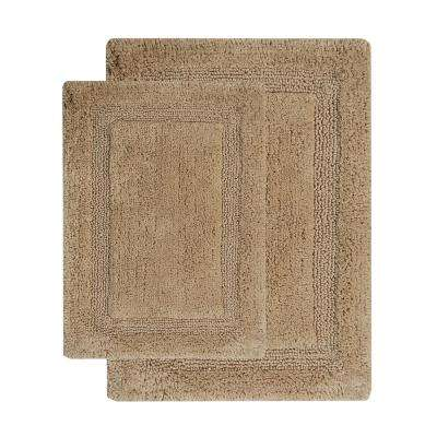 Regency 34 in. x 21 in. and 36 in. x 24 in. 2-Piece Bath Rug Set in Beige
