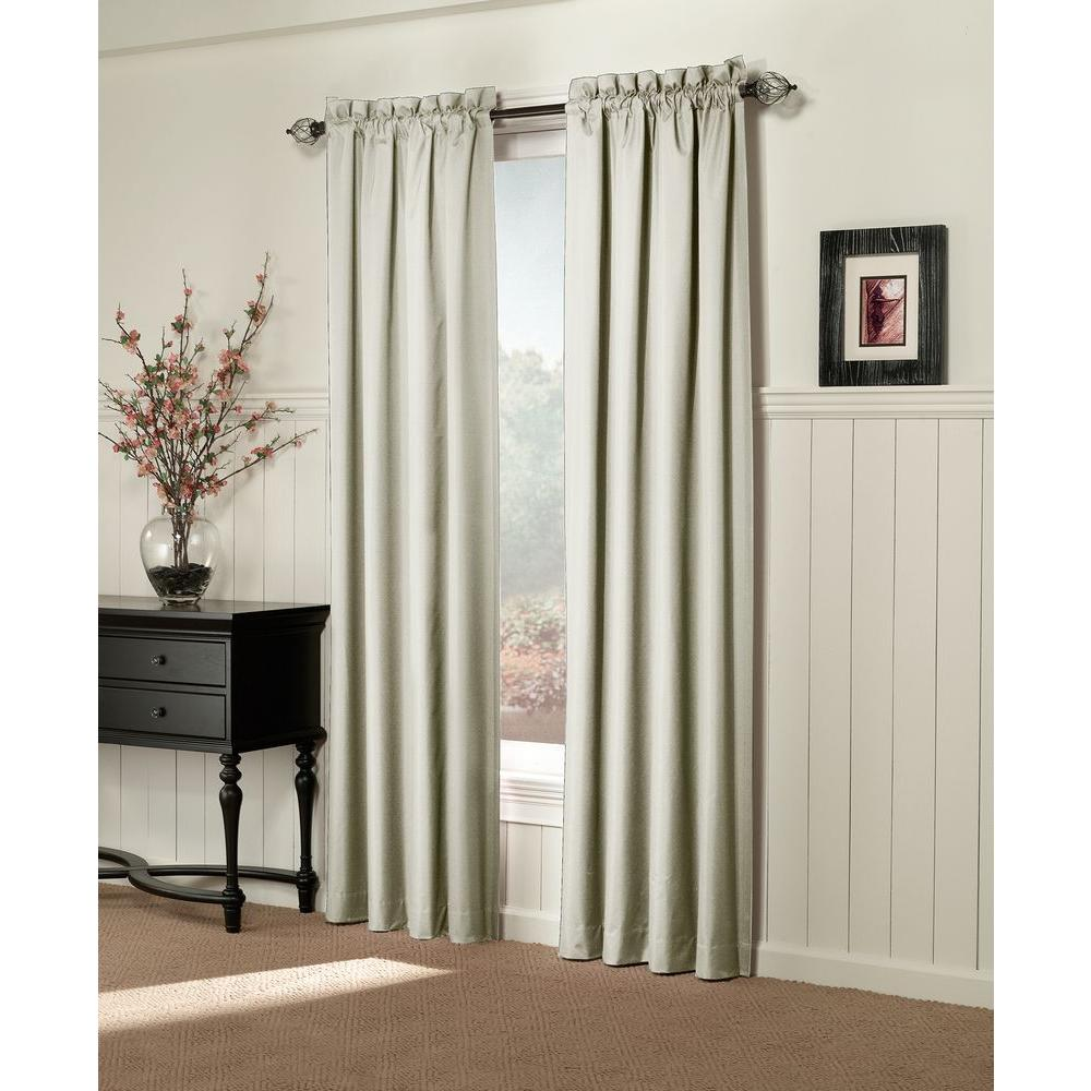 Sun Zero Semi-Opaque Brighton Ivory Thermal Lined Curtain Panel (Price Varies by Size)