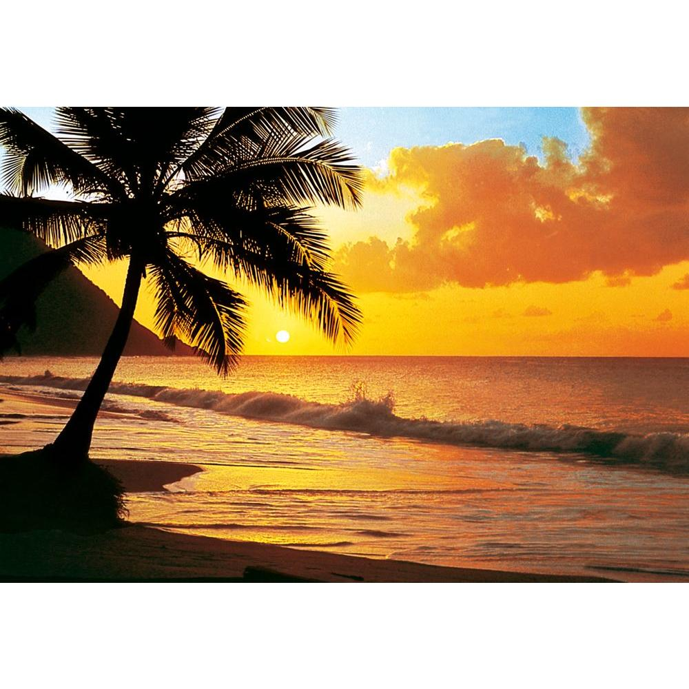 Ideal Decor 100 in. x 144 in. Pacific Sunset Wall Mural-DM218 ...