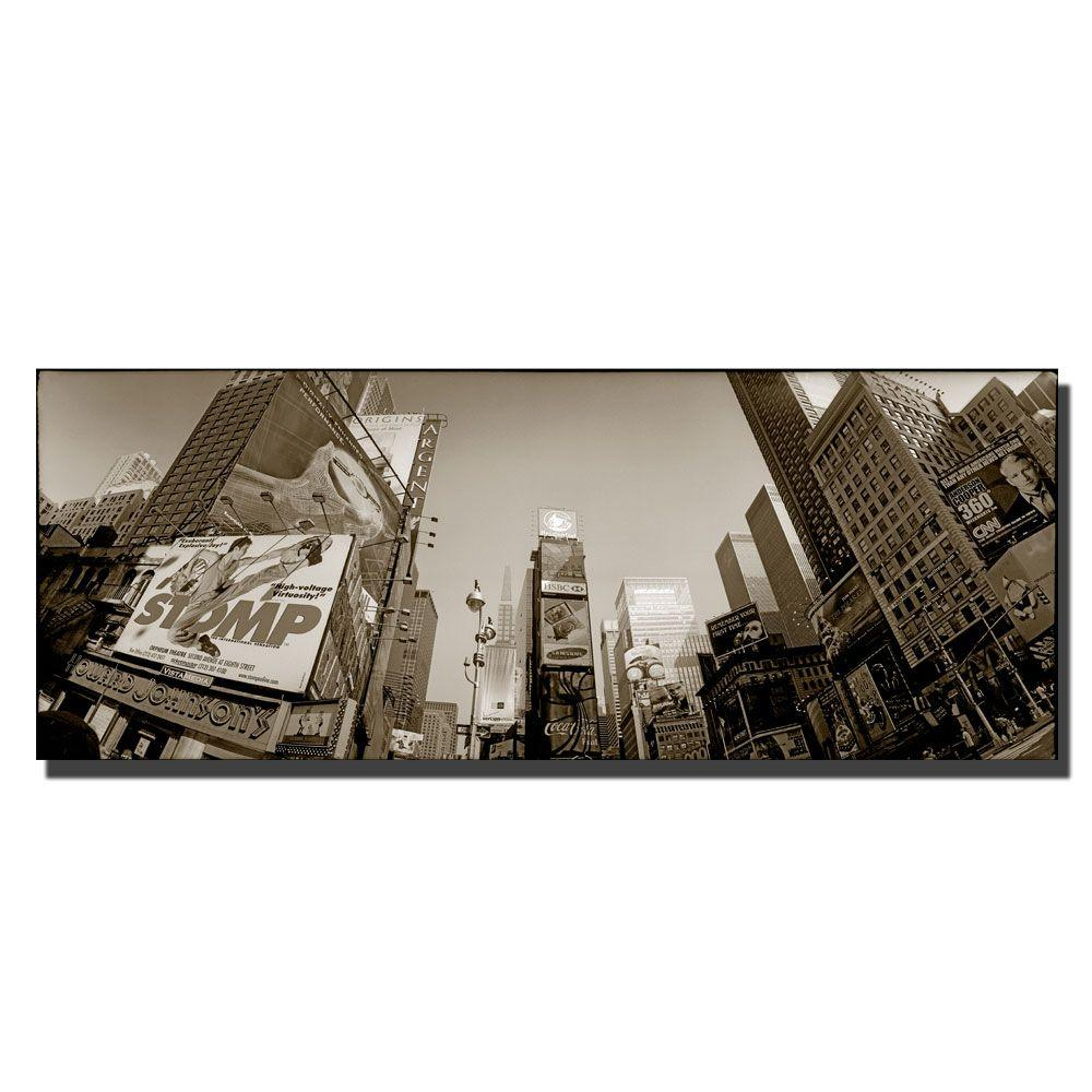 Trademark Fine Art 8 in. x 24 in. Times Square Canvas Art