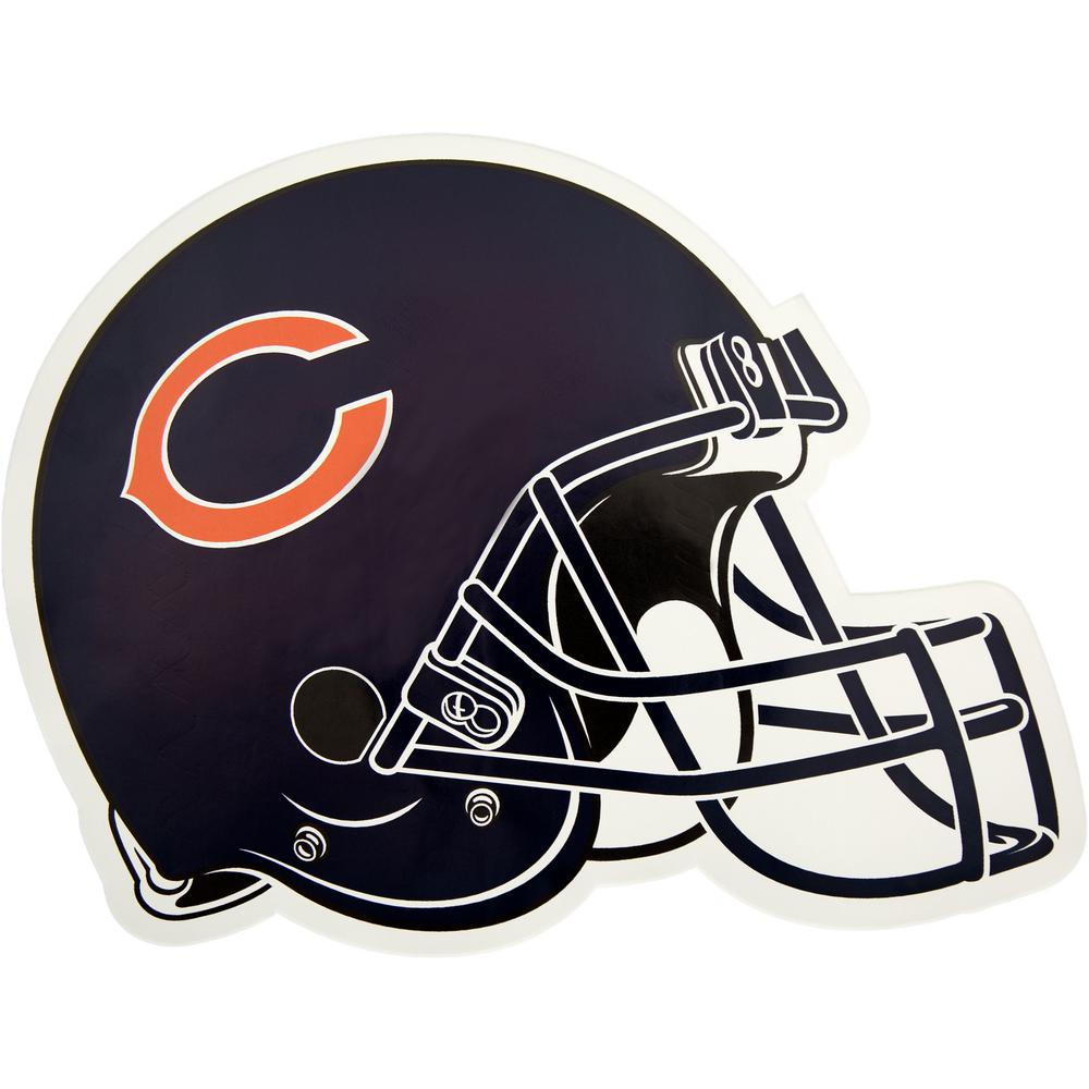 04bfc31abd7 Applied Icon NFL Chicago Bears Outdoor Helmet Graphic- Large-NFOH0603 - The  Home Depot