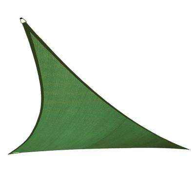 15 ft. x 19 ft. x 24 ft. Olive Green Right Triangle Ultra Shade Sail with Kit