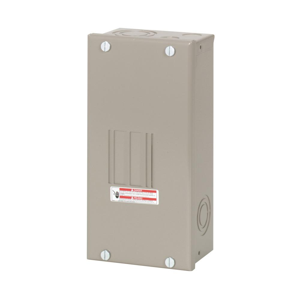 Eaton CH 70 Amp 2-Space 4-Circuit Indoor Main Lug Loadcenter with Cover