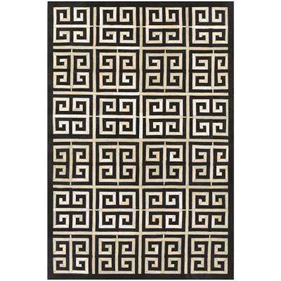 Chalet Meander Black-Ivory 2 ft. x 4 ft. Area Rug