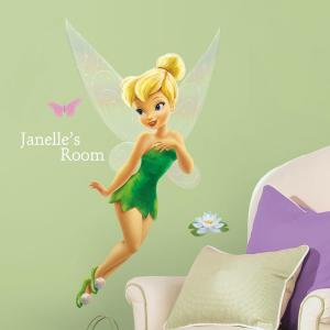 Disney Faries Tinkerbell L And Stick Giant Wall Decor With Personalization
