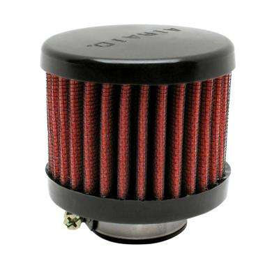 Rubber Top 1.5in ID - Clamp On 3in OD 2.5in Tall Breather Filter