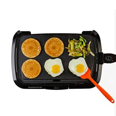 Non-Stick Plate Electric Griddle, Temperature Probe and Control Knob, Indicator Light and Drip Tray