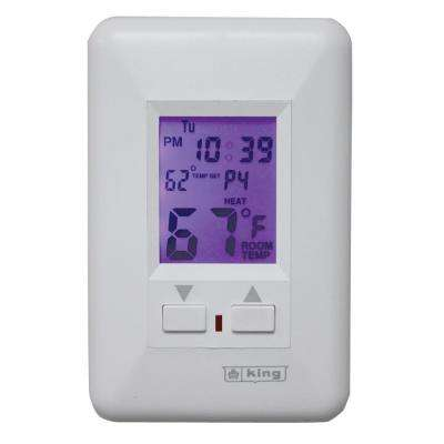 7-Day Electronic Comfort Color Screen Programmable Thermostat in White