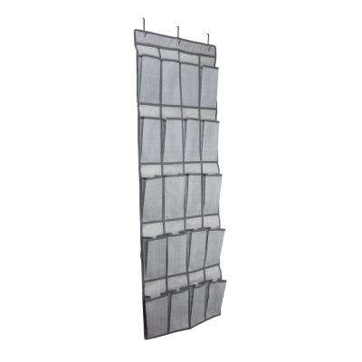 20-Pocket Shoe Organizer in Grey