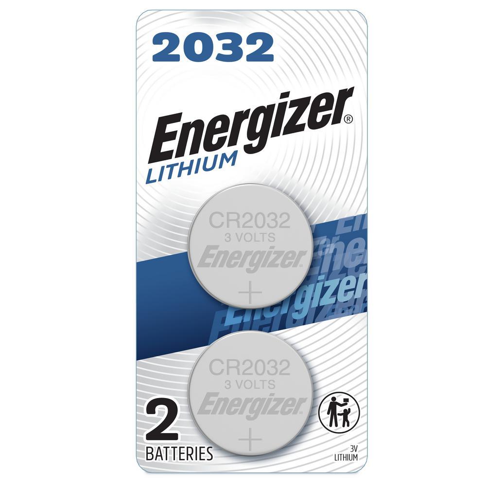 Energizer 2032 Batteries (2 Pack), 3V Lithium Coin Batteries