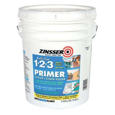 Bulls Eye 1-2-3 5 gal. White Water Based Interior/Exterior Primer and Sealer