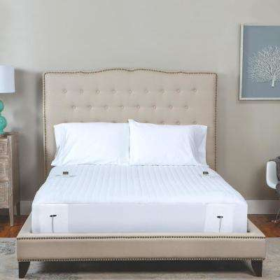 California King Polyester Warming Mattress Pad Heated - Toppers \u0026 Pads Bedding Bath The