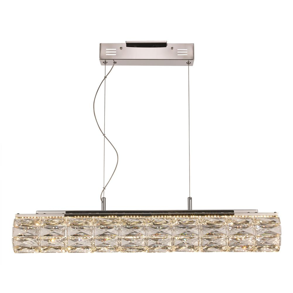 Bel Air Lighting 22-Watt Integrated LED Polished Chrome Pendant