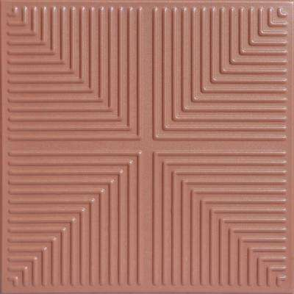 Pyramid Illusion 1.6 ft. x 1.6 ft. Foam Glue-up Ceiling Tile in Tea Room