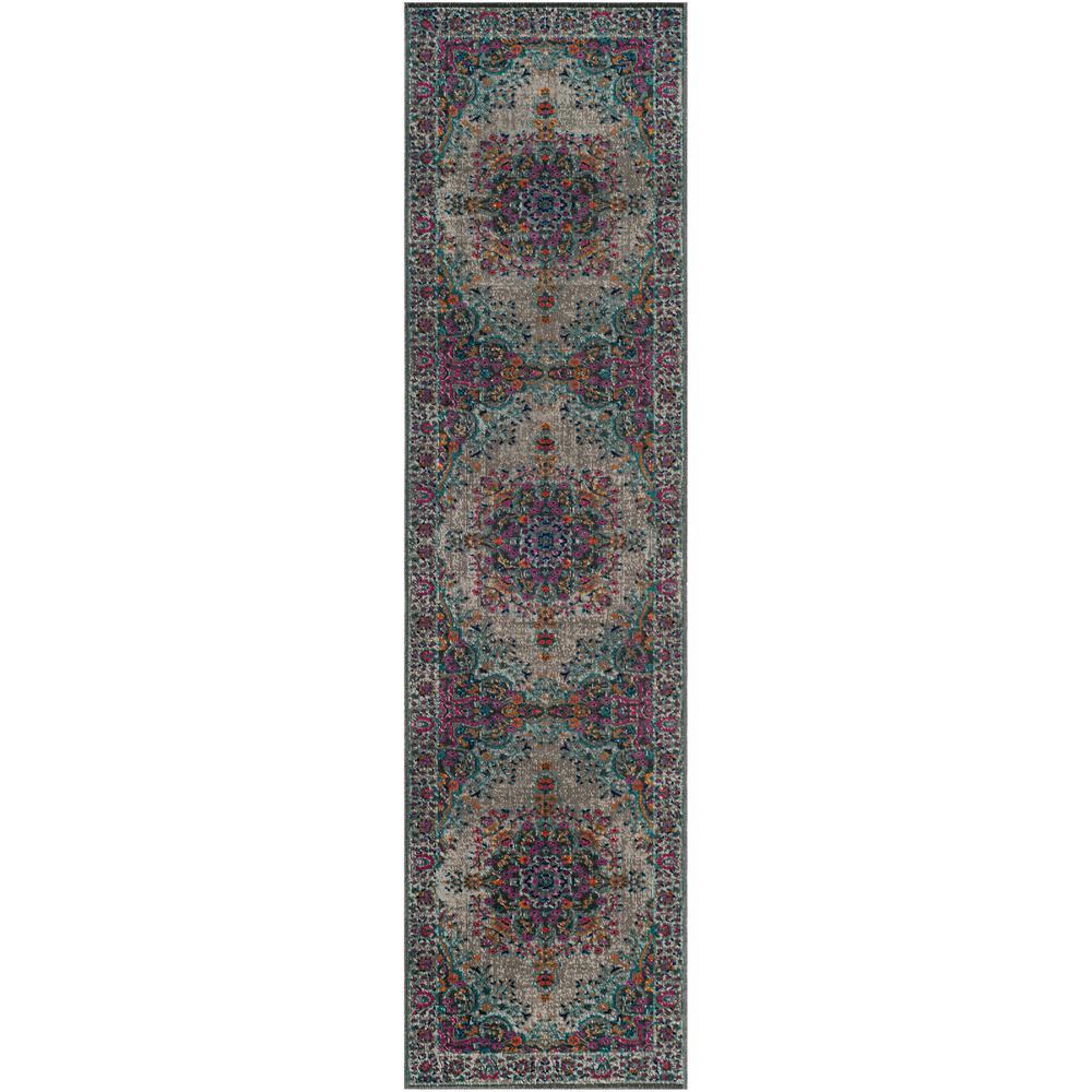 Artisan Gray/Fuchsia 2 ft. x 8 ft. Runner Rug