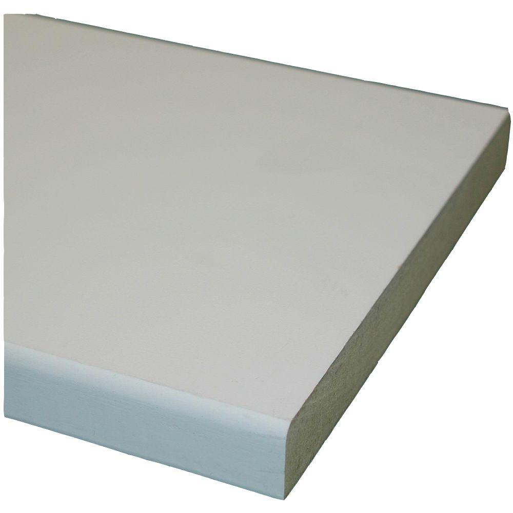 null Primed MDF Board (Common: 11/16 in. x 2-1/2 in. x 10 ft.; Actual: 0.669 in. x 2.5 in. x 120 in.)