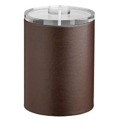 Contempo 2 Qt. Brown Tall Ice Bucket with Thick Lucite Lid