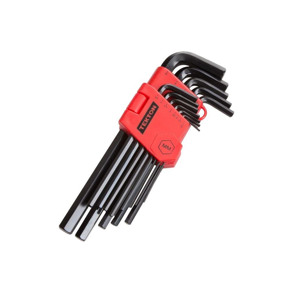 TEKTON 1.27-10 mm Long Arm Hex Key Wrench Set (13-Piece)