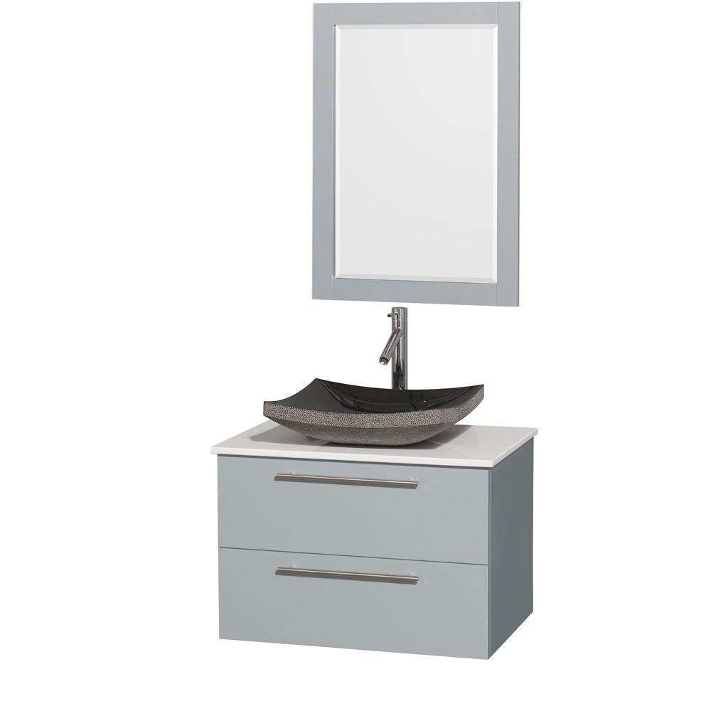 Wyndham Collection Amare 30 In W X 20 5 D Vanity Dove Gray