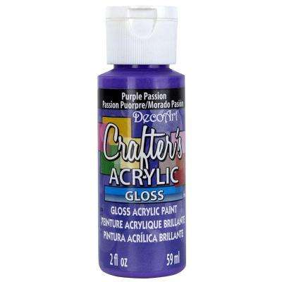 2 oz. Purple Passion Gloss Crafter's Acrylic Paint