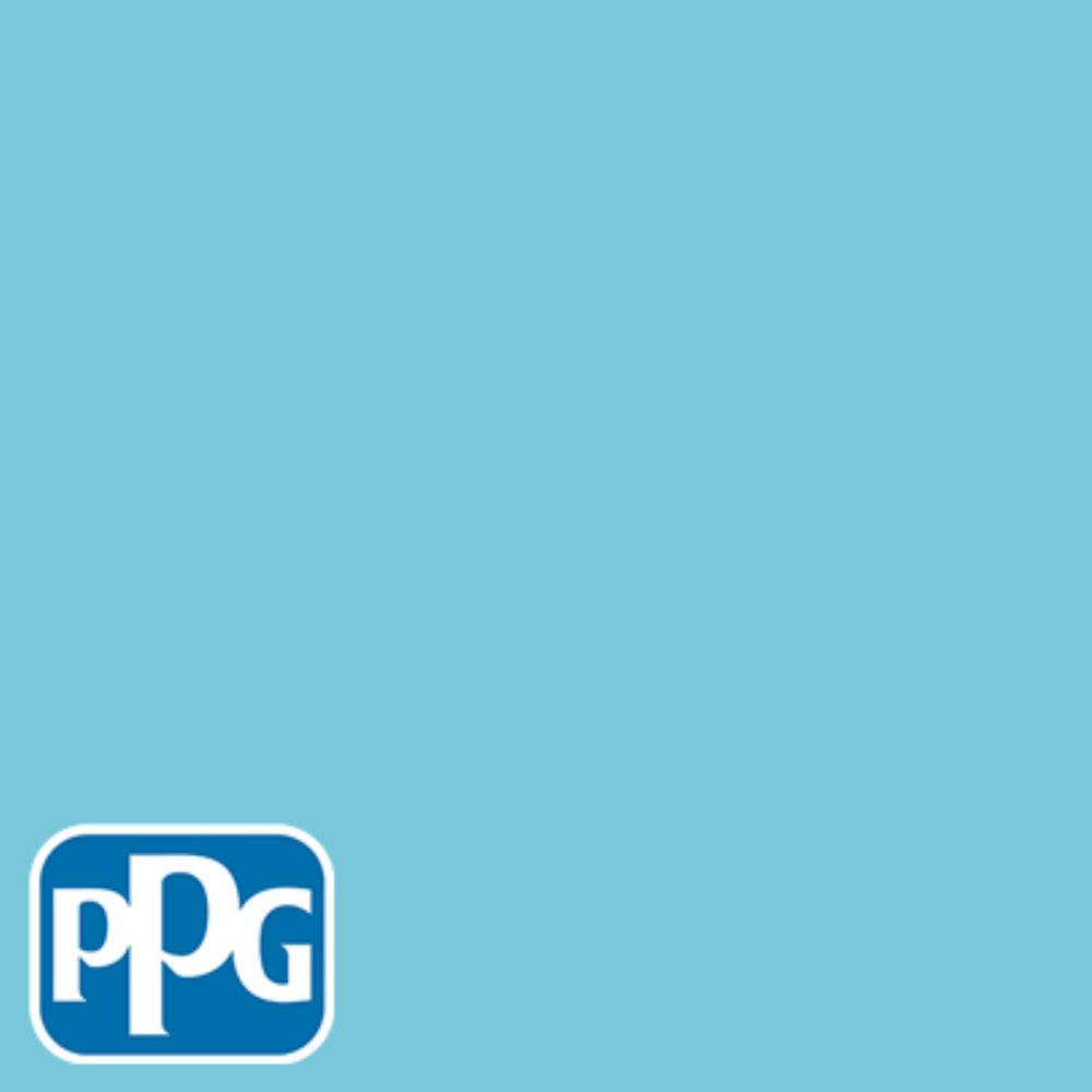 PPG TIMELESS 8 oz. #HDPPGB41D Sticky Note Blue Eggshell Interior/Exterior Paint Sample