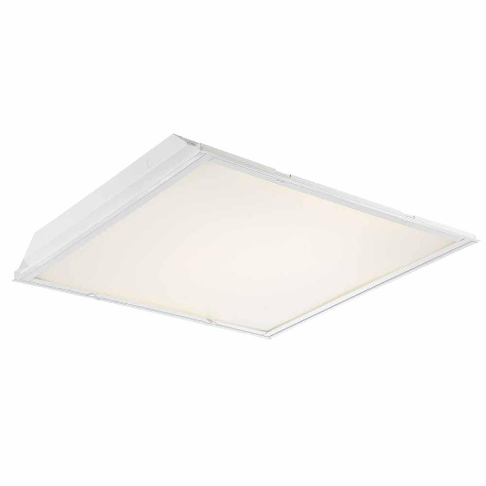 Envirolite 2 ft x 2 ft 96 watt equivalent white prismatic lens 96 watt equivalent white prismatic lens integrated led commercial grid ceiling troffer evtr22bl20pd the home depot arubaitofo Gallery