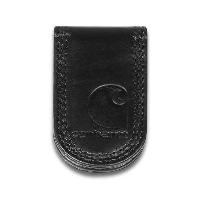Mens Leather Black Detroit Money Clip