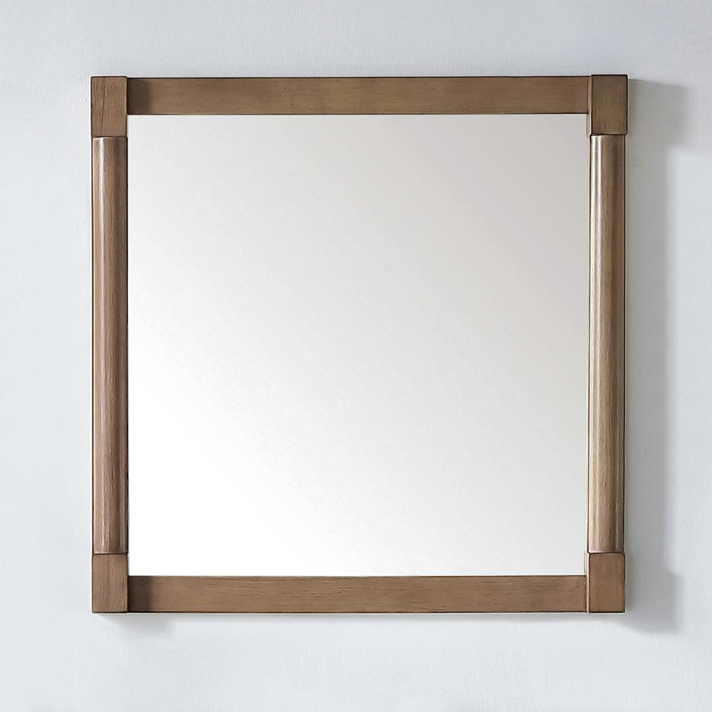 Exceptionnel Martha Stewart Living Breton 32 In. X 32 In. Framed Wall Mirror In Almond  Toffee Breton MR AT   The Home Depot