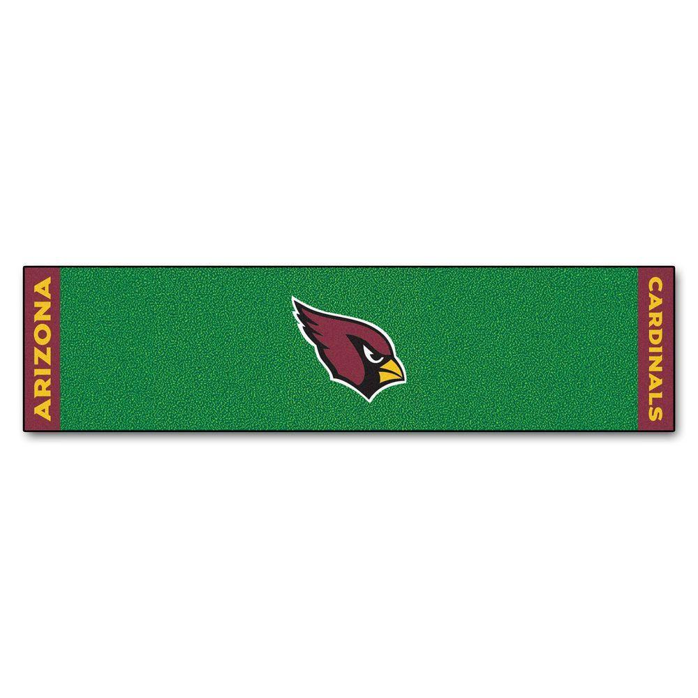 NFL Arizona Cardinals 1 ft. 6 in. x 6 ft. Indoor 1-Hole Golf Practice Putting Green