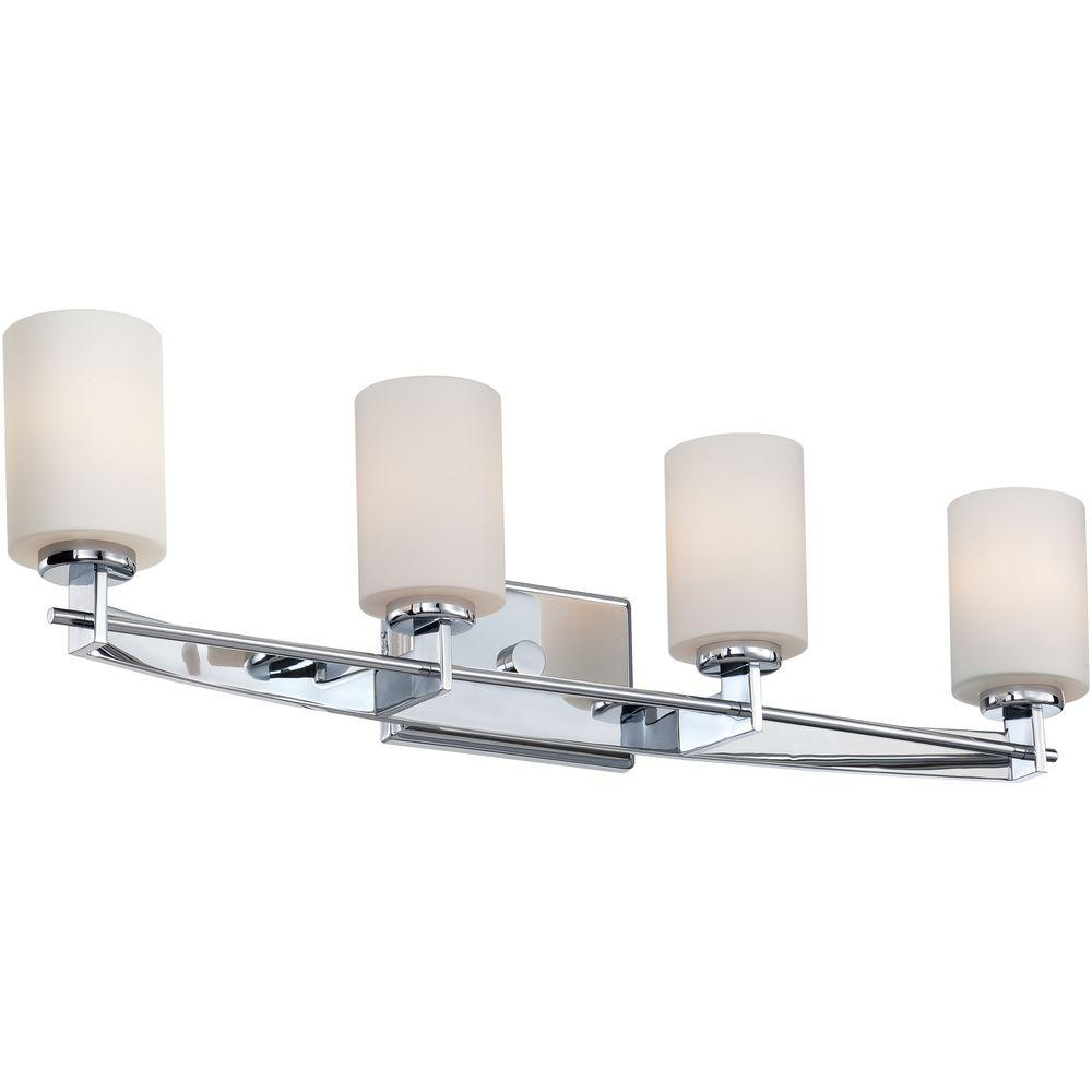 Filament Design Monroe 4-Light Polished Chrome Incandescent Bath Vanity Light