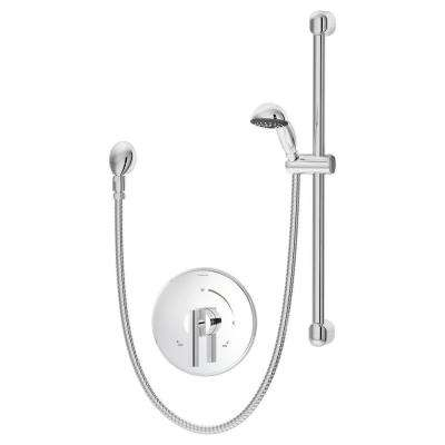 Dia 1-Spray Hand Shower in Chrome (Valve Included)