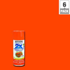 12 oz. Gloss Real Orange General Purpose Spray Paint (6-Pack)