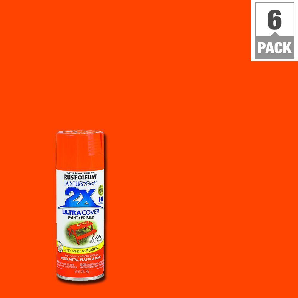 12 oz. Gloss Real Orange General Purpose Spray Paint (6-Pack)