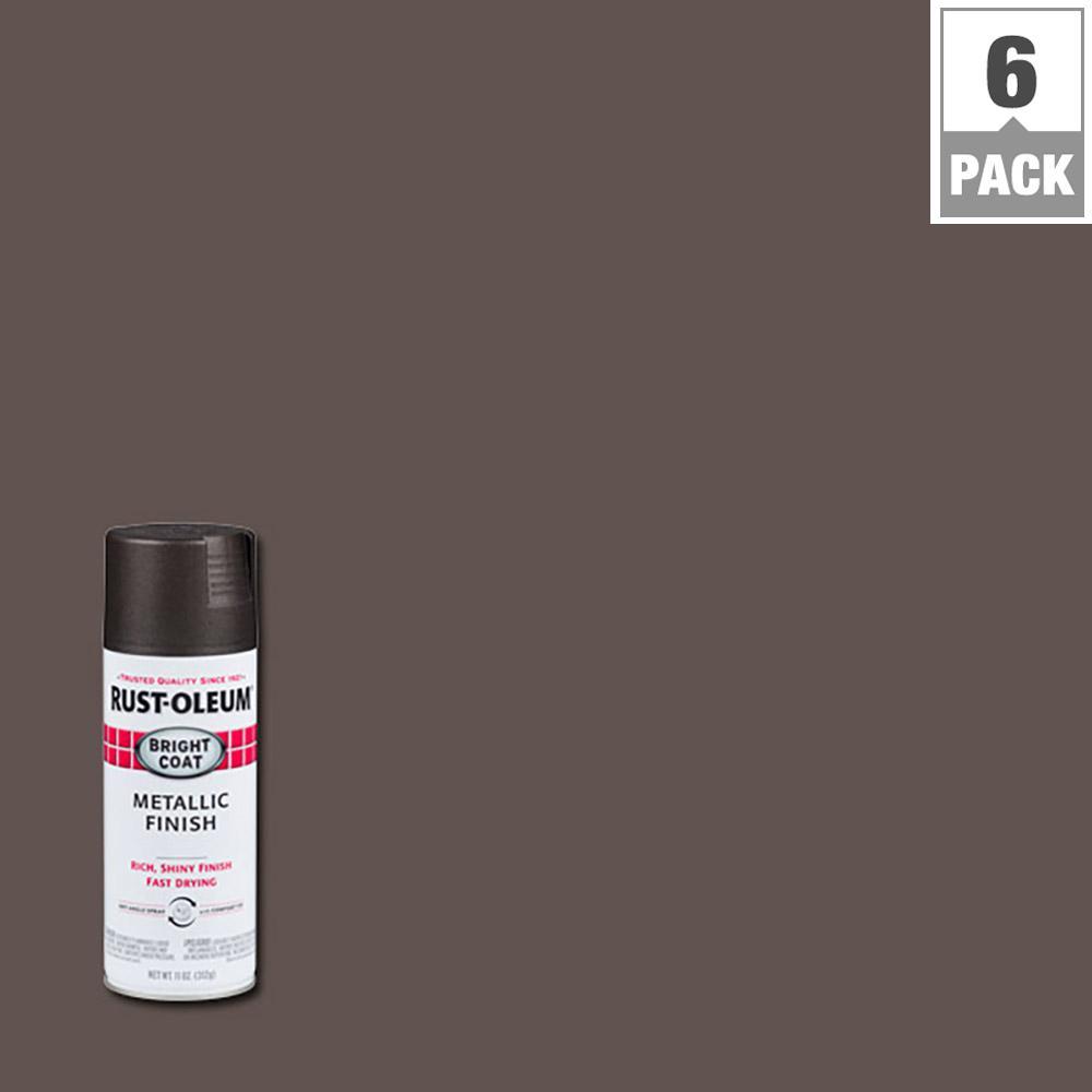 11 oz. Bright Coat Metallic Spray (6-Pack)