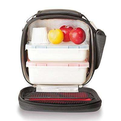 Satin Black Lunch Bag (0.75 l and 0.5 l containers included)