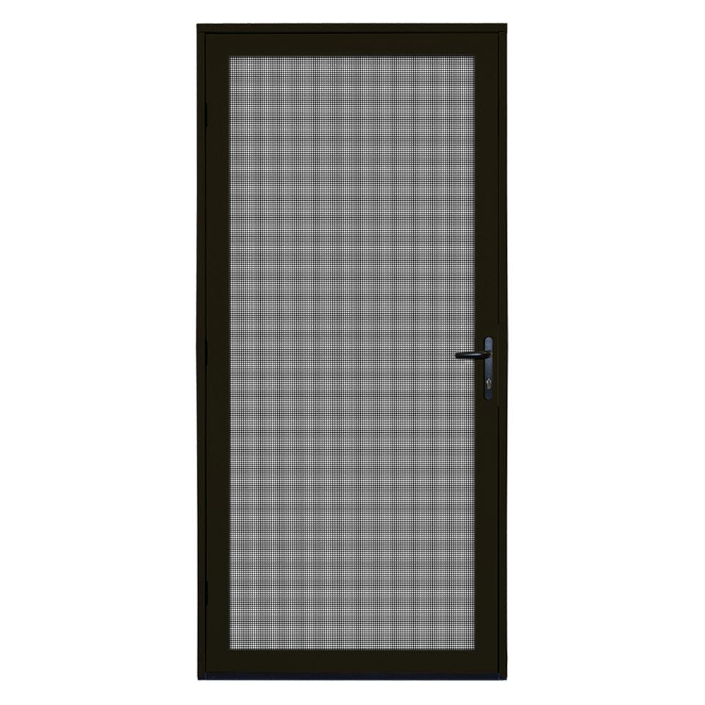 ... Security Storm Door White Source · Unique Home Designs 36 In X 80 In  Bronze Recessed Mount Meshtec