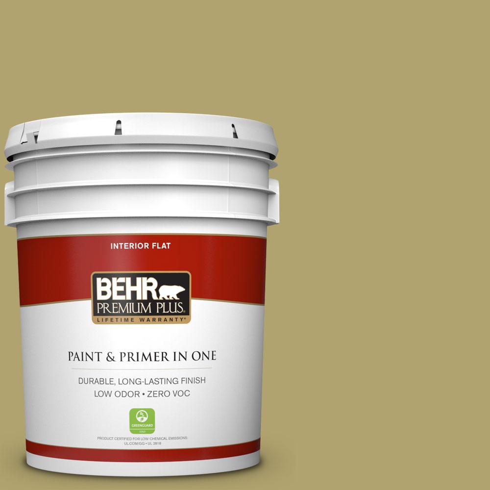 5 gal. #HDC-WR15-10 Green Bean Casserole Zero VOC Flat Interior Paint