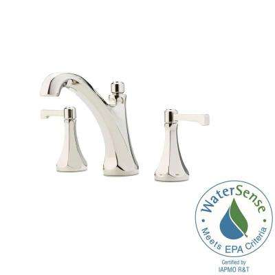 Arterra 8 in. Widespread 2-Handle Bathroom Faucet in Polished Nickel