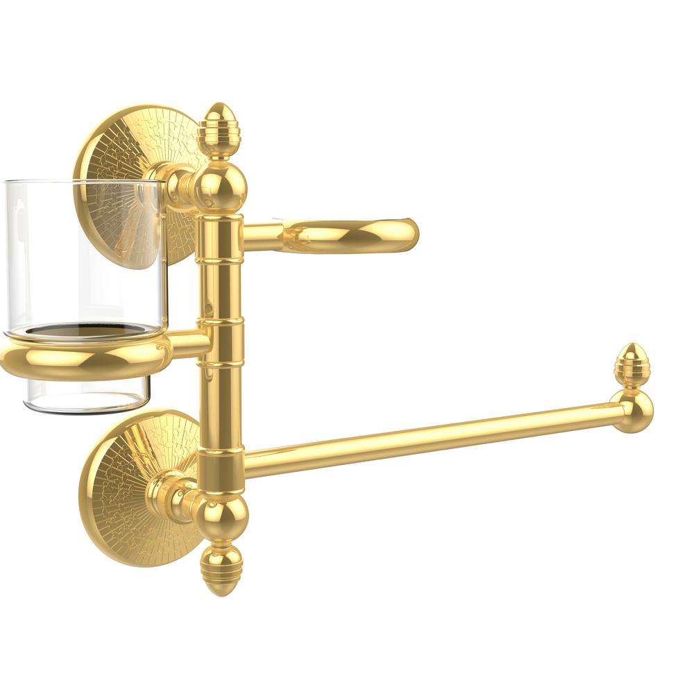 Monte Carlo Collection Hair Dryer Holder and Organizer in Polished Brass