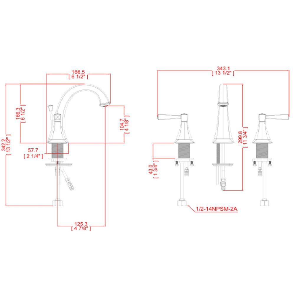 Perth 8 in. Widespread 2-Handle Bathroom Faucet in Satin Nickel