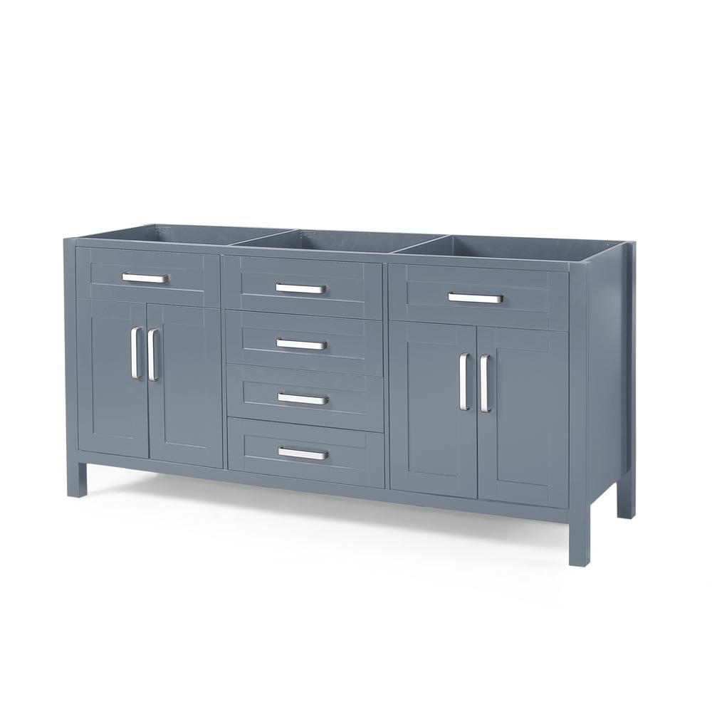 Greysen 72 in. W x 22 in. D Bath Vanity Cabinet Only in Grey