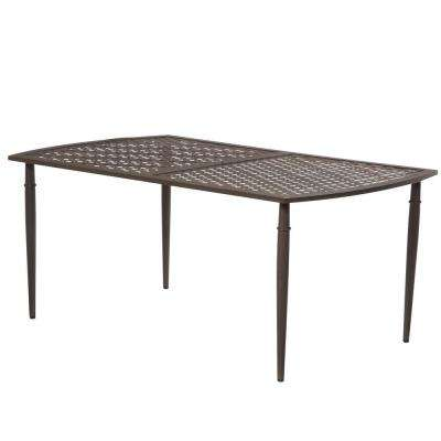 Oak Cliff 7-Piece Metal Outdoor Patio Dining Table