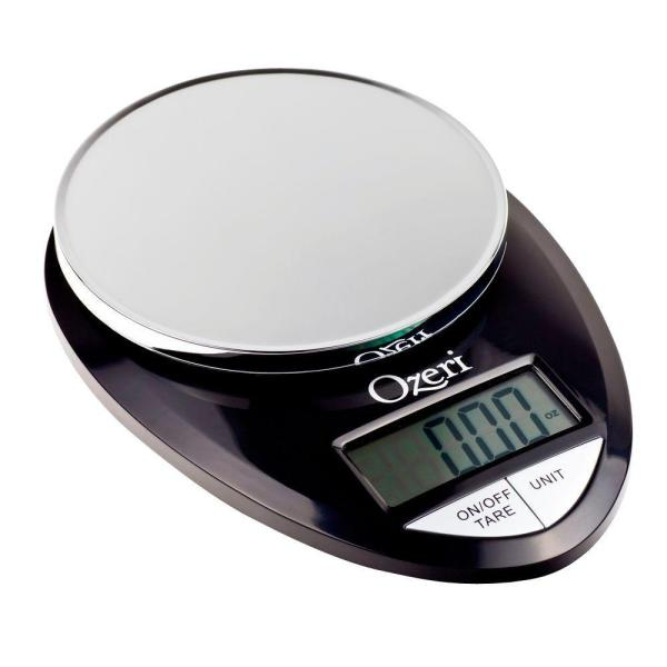 Pro Digital Kitchen Food Scale, 1 g to 12 lbs. Capacity, in Stylish Black