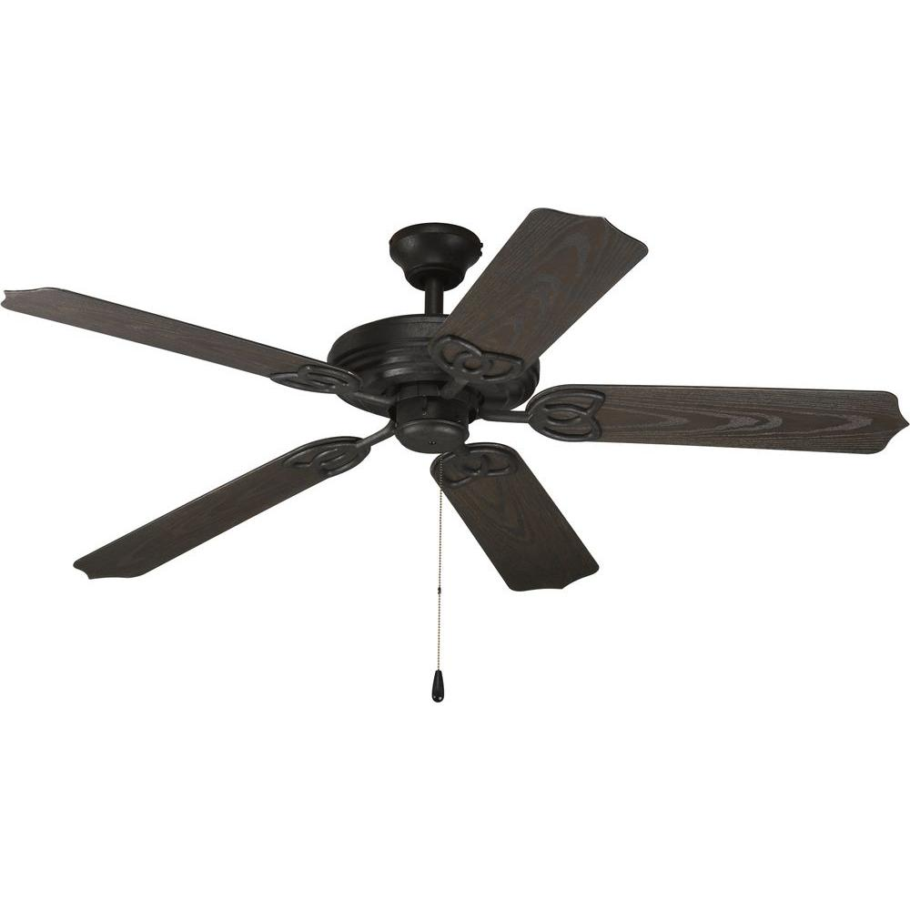 Progress Lighting AirPro 52 in. Forged Black Indoor/Outdoor Ceiling Fan