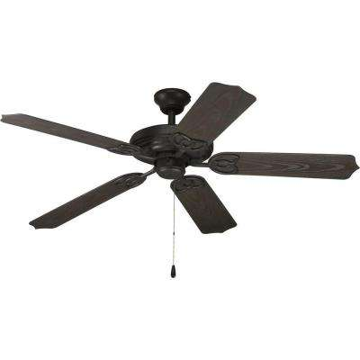 AirPro 52 in. Indoor or Outdoor Forged Black Ceiling Fan