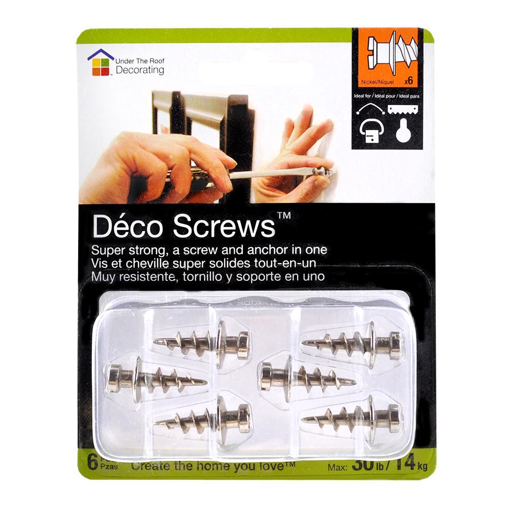 Deco Screws Nickel 30 lbs. Sampler Pack