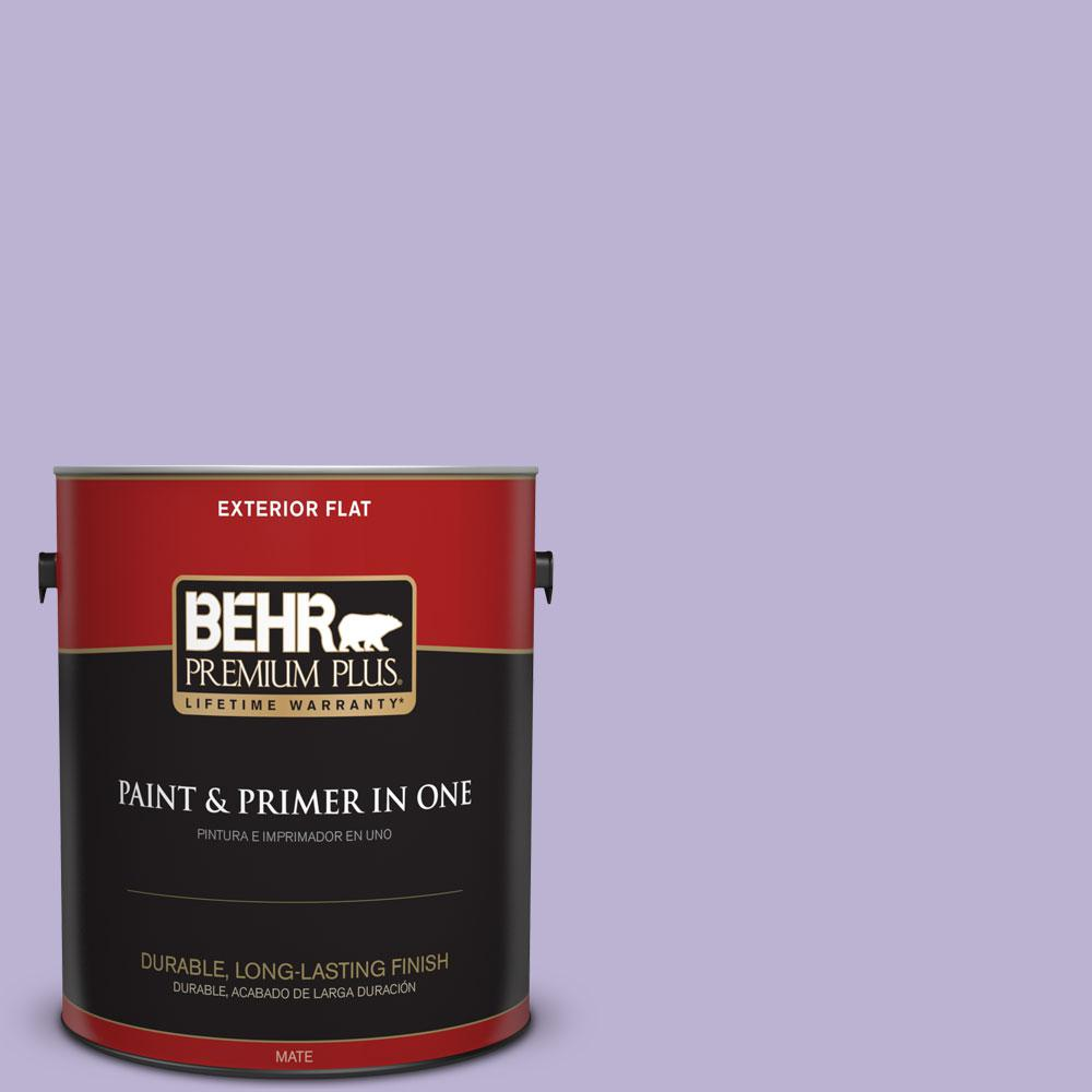 BEHR Premium Plus 1-gal. #M560-3 Grape Hyacinth Flat Exterior Paint