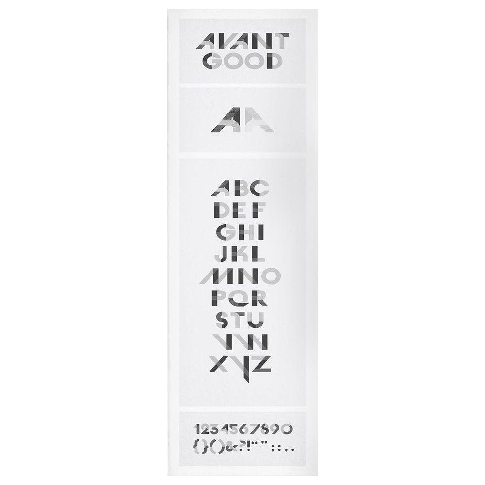 14 in. x 47 in. Avant Good Font Poster Canvas Art